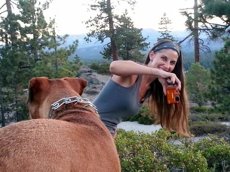 Having Fun Shooting With My Dog in Tahoe